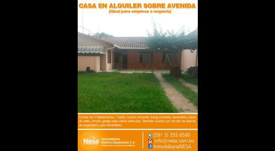 Casa en Alquiler Zona sudoeste Barrio Vallegrande – Sexto anillo entre Av. Pirai y Radial 17/2 Foto 1
