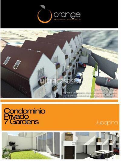 Casa en Venta en La Paz Mallasa CASAS EN PREVENTA  - CONDOMINIO PRIVADO 7 GARDENS  -  JUPAPINA