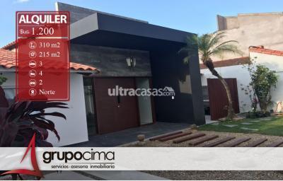 Casa en Alquiler en Santa Cruz de la Sierra 3er Anillo Norte LINDISIMA CASA BARRIO HAMACAS