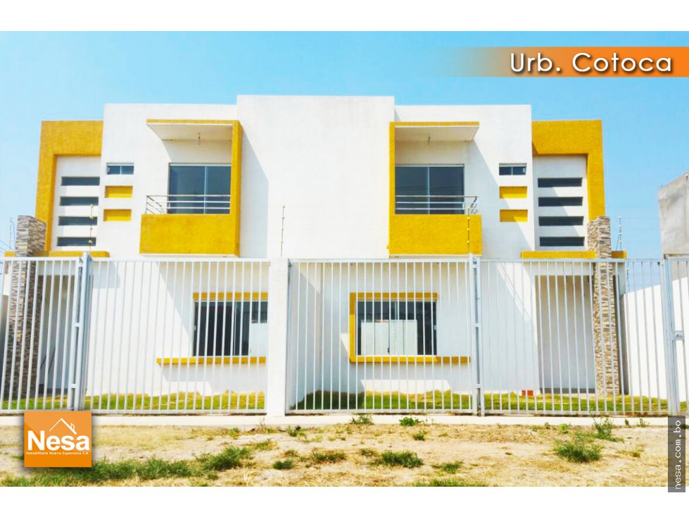 Casa en Venta EN VENTA CASA A ESTRENAR EN LA URB. COTOCA Foto 1