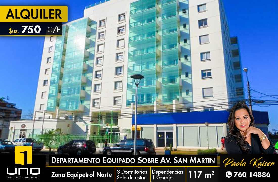 Departamento en Alquiler Avenida San Martin - Equipetrol Foto 1
