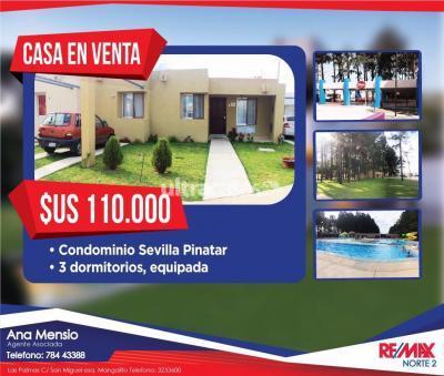 Casa en Venta en Santa Cruz de la Sierra 8vo Anillo Norte Condominio Sevilla Pinatar