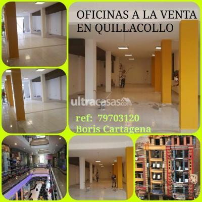 Oficina en Venta en Cochabamba Quillacollo QUILLACOLLO
