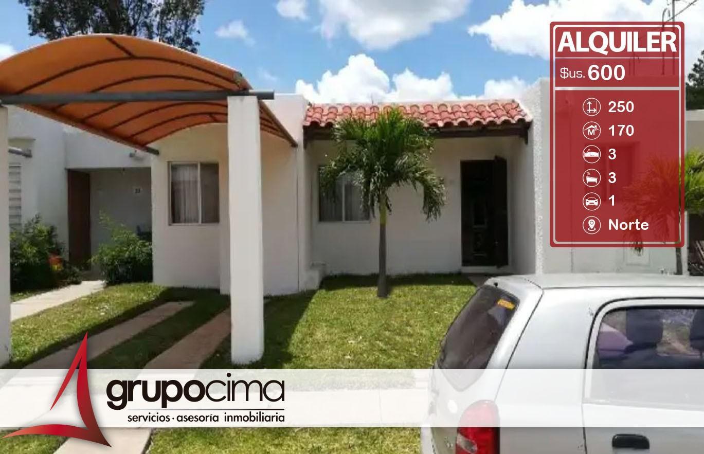 Casa en Alquiler ZONA: NORTE CONDOMINIO SEVILLA LAS TERRAZAS II Foto 1