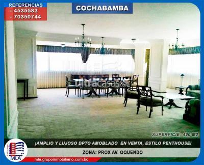 Departamento en Venta en Cochabamba Centro ZONA: PROX AV. OQUENDO.