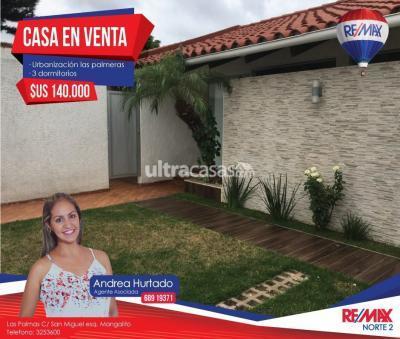 Casa en Venta en Santa Cruz de la Sierra 4to Anillo Sur Urbanización Las Palmeras Av. San Aurelio 4to anillo