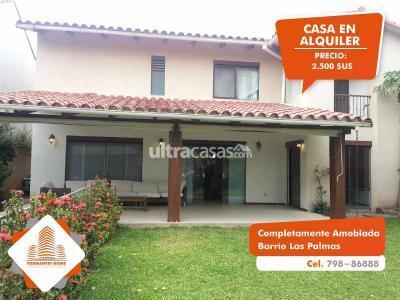 Casa en Alquiler en Santa Cruz de la Sierra 3er Anillo Oeste  Barrio Las Palmas: [ALQUILER] Hermosa Casa , completamente amoblada y equipada