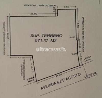 Casa en Venta en Oruro Oruro 6 de Agosto y Arce