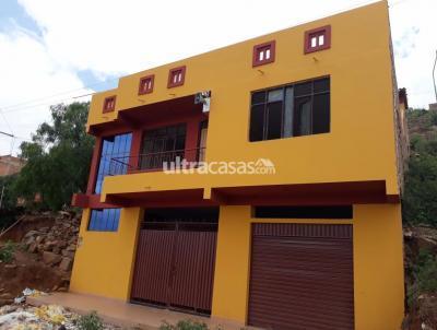 Casa en Venta en Cochabamba Sudoeste Ticti Sud.. de la Av. Petrolera Km 4 1/2.. subiendo 4 cuadras.