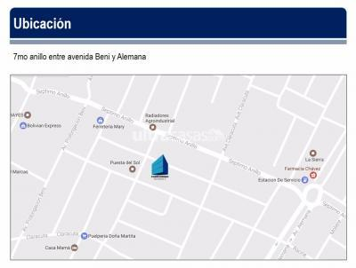 Departamento en Venta en Santa Cruz de la Sierra 7mo Anillo Norte Avenida Beni 7mo anillo