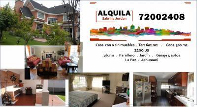 Casa en Alquiler en La Paz Achumani Achumani