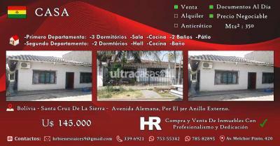 Casa en Venta en Santa Cruz de la Sierra 3er Anillo Norte Avenida Alemana, Por El 3er Anillo Externo