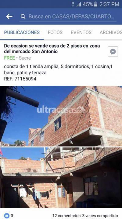Casa en Venta en Sucre Sucre Calle paraguay