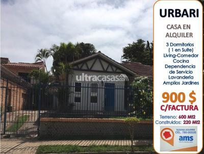 Casa en Alquiler en Santa Cruz de la Sierra 3er Anillo Oeste ZONA URBARI