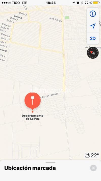 Terreno en Venta en El Alto Villa Adela Pasando de radio san Gabriel por el Av. julio baldez urbanización Marte  a frente a colegio