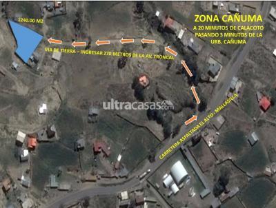 Casa en Venta en La Paz Achocalla ZONA CAÑUMA