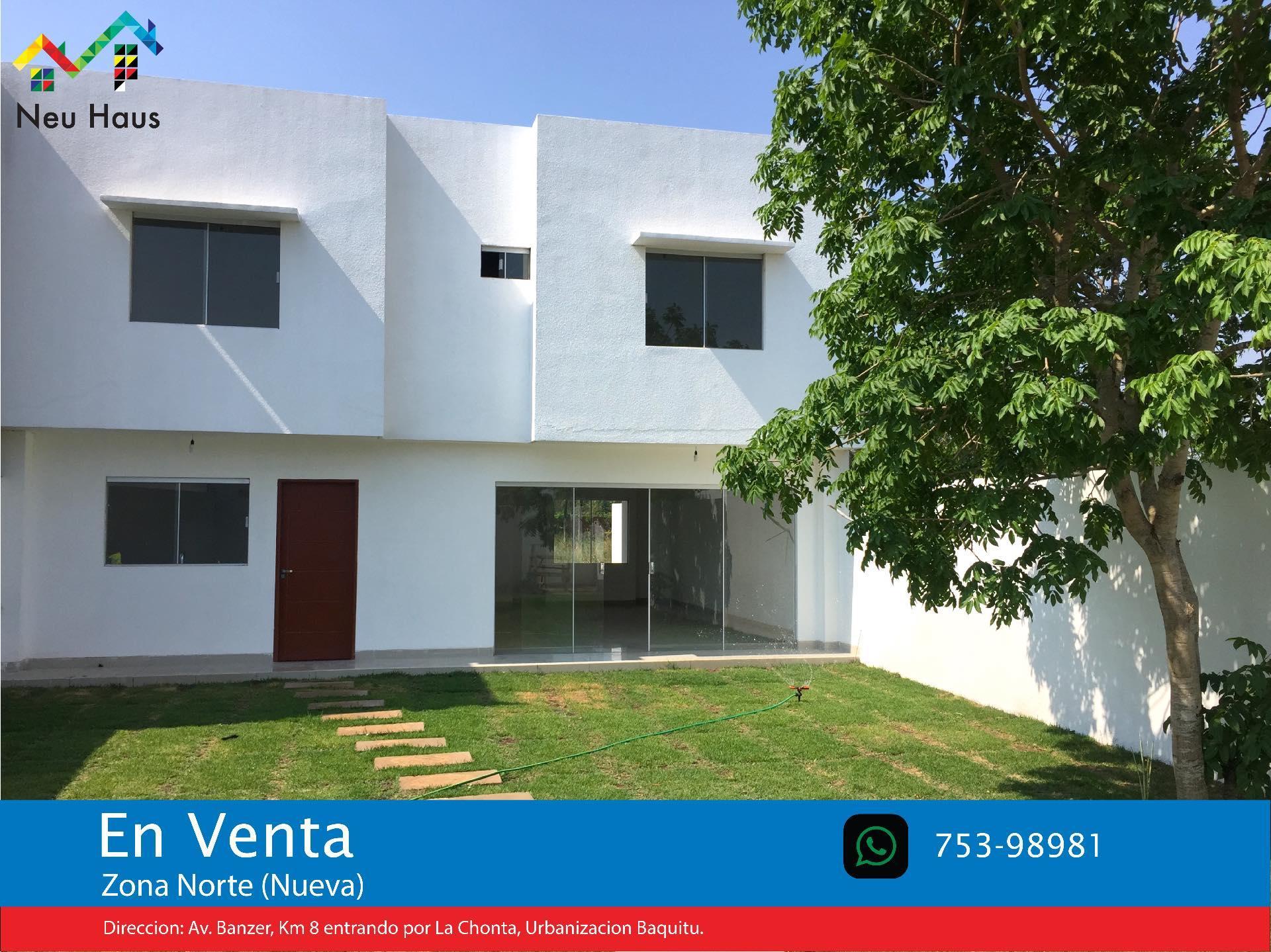 Casa en Venta Casa en Venta Urb.Baquitu, Av.Banzer entrando por La Chonta (800 Mts.) o Av.Beni 9no Anillo (Nueva Avenida) Foto 1