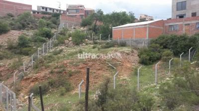 Terreno en Venta en Sucre Sucre Alto Tucsupaya, próximo al Mirador, a 50 mts. de la Avenida Juana Azurduy