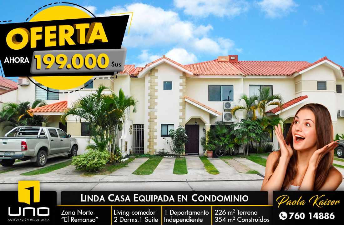 Casa en Venta LINDA CASA EN VENTA EN CONDOMINIO PRIVADO ZONA NORTE  Foto 1