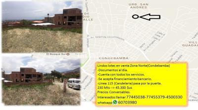 Departamento en Venta en Cochabamba Condebamba Zona condebamba Urbanización San Andres.