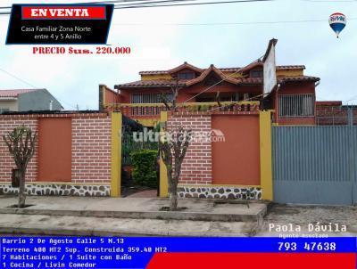 Casa en Venta en Santa Cruz de la Sierra 4to Anillo Norte C/5  entre Av. 2 de Agosto y Cambodromo entre 4 y 5 anillo