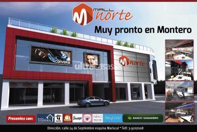 Local comercial en Alquiler en Montero Montero Calle 24 de septiembre esquina mariscal santa cruz a 3 cuadras de la plaza principal de Montero.