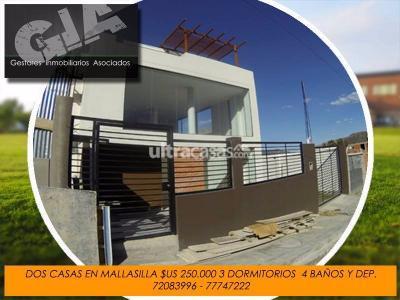 Casa en Venta en La Paz Mallasilla Casa doble en Mallasilla a estrenar usd 250 mil