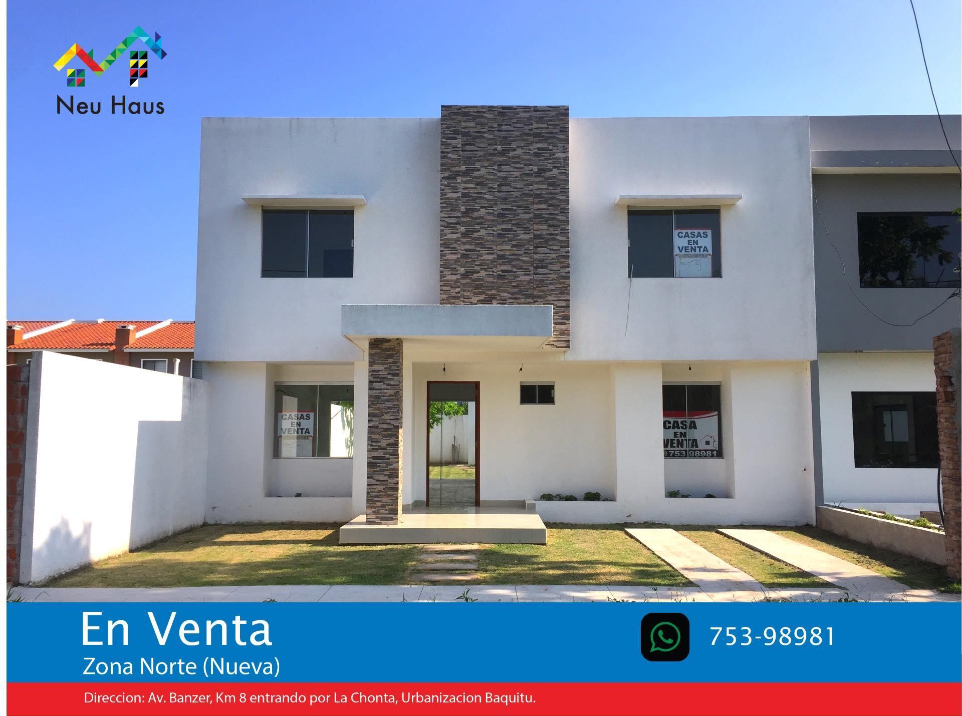 Casa en Venta Casa en Venta Urb.Baquitu, Av.Banzer entrando por La Chonta (800 Mts.) o Av.Beni 9no Anillo (Nueva Avenida) Foto 2