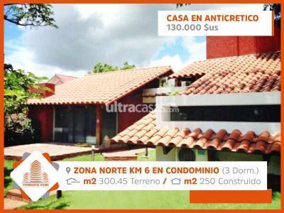 Casa en Anticretico en Santa Cruz de la Sierra 7mo Anillo Norte  Zona norte Km 6