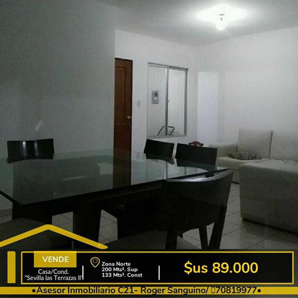 Casa en Venta Casa en Venta en Cond. Sevilla las terrazas 2, Av.banzer  km 10. Foto 3