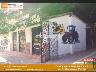 Casa en Alquiler en Santa Cruz de la Sierra 1er Anillo Norte CASA AMPLIA  PARA NEGOCIO Y VIVIENDA O EMPRESAS!!!