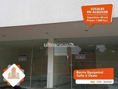 Local comercial en Alquiler en Santa Cruz de la Sierra 2do Anillo Oeste Barrio Equipetrol Calle 6 Oeste a 100 metros de la Av. San Martin.