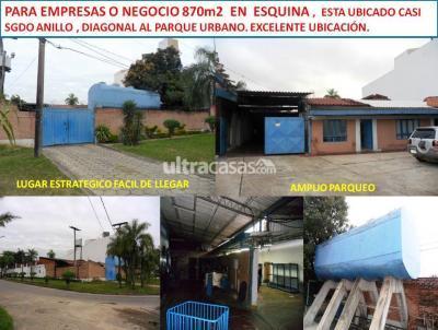 Casa en Venta en Santa Cruz de la Sierra 2do Anillo Este  CASI SGDO ANILLO 870m2 DE TERRENO DIAGONAL AL PARQUE URBANO