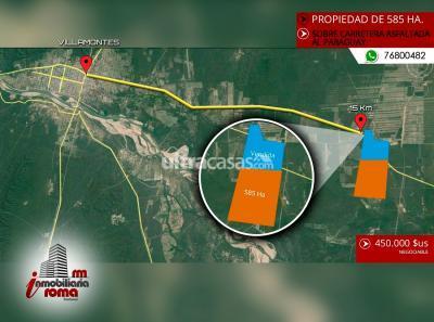 Terreno en Venta en Villamontes Villamontes Carretera al Paraguay