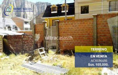 Terreno en Venta en La Paz Achumani TERRENO EN VENTA - Achumani