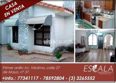 Casa en Venta en Santa Cruz de la Sierra 1er Anillo Sur HERMOSA Y AMPLIA CASA EN VENTA ZONA DE LA AVENIDA VIEDMA CERCA A TIGO