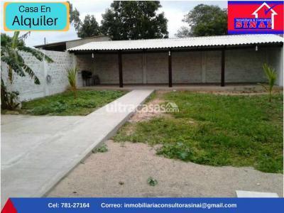 Casa en Alquiler en Santa Cruz de la Sierra Carretera Norte Zona Satelite norte- Urbanizacion Buena fe