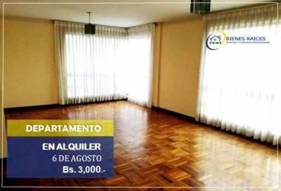 Departamento en Alquiler en La Paz Centro DEPARTAMENTO EN ALQUILER - 6 de Agosto