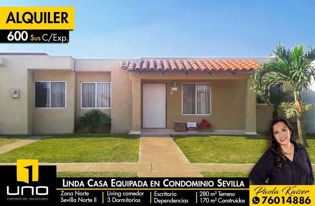 Casa en Alquiler Equipetrol, Santa Cruz de la Sierra, Bolivia. Foto 1