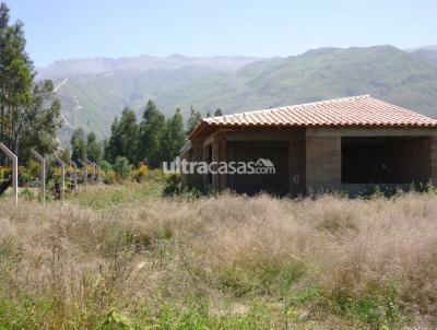 Terreno en Venta en Cochabamba Tiquipaya Terreno en APOTE 500m3 a 200m de la avenida con casa obra gruesa 115 m3 construidos inst. sanitarias y electicas completas