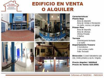 Local comercial en Alquiler en Santa Cruz de la Sierra 2do Anillo Sur EDIFICIO EN ALQUILER CON OPCION A VENTA
