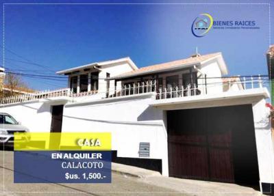 Casa en Alquiler en La Paz Calacoto CASA EN ALQUILER - Zona Calacoto